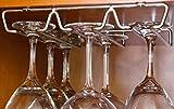 DecoBros Under Cabinet Wine Glass Stemware Rack Holder, Chrome