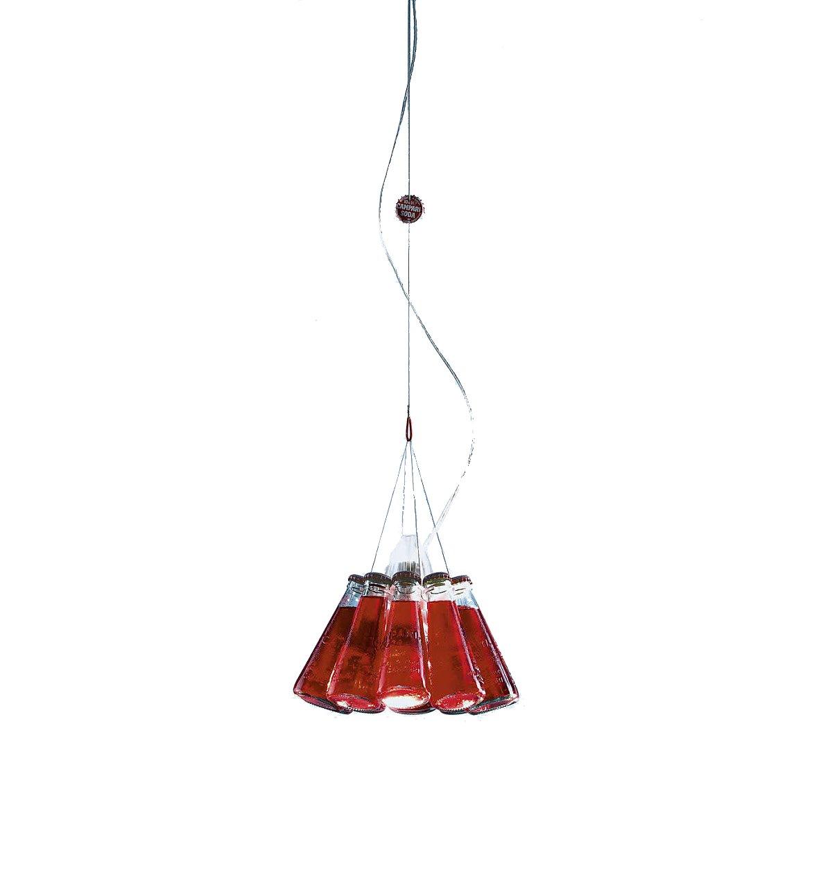 Ingo Maurer Campari Light Pendelleuchte, rot Glas Größe 1 Abhängungslänge 155cm