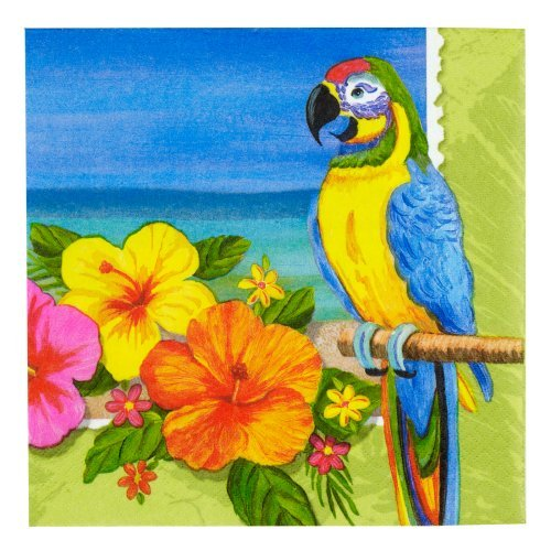 Tropical Vacation Lunch Napkins (16 count)
