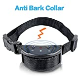 DogTrainer-DG53 Anti Bark Collar for Dogs Training System, No Harm Warning Beep And Shock with 7 Adjustable Sensitivity Electric Collar,for 15-120 Pounds Dogs