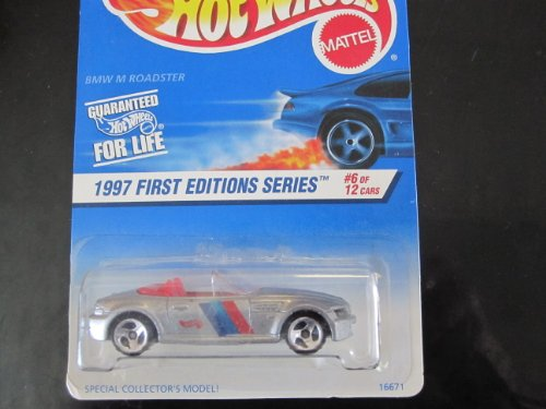 BMW M Roadster(silver W/3 Spoke Wheels) Hot Wheels 1997 First Edition on blue/white Card