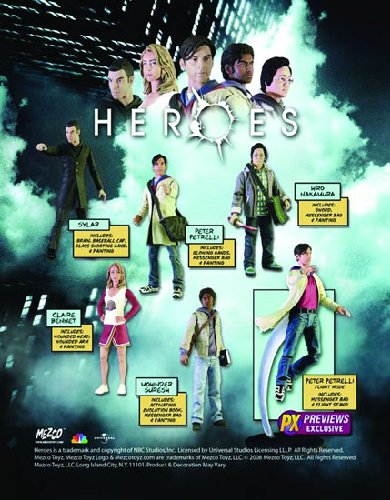 Buy Low Price Mezco HEROES Series 1: Previews Exclusive Action Figures Set of 6 (Includes Peter Petrelli 'Flight Mode') (B001B7PTNY)