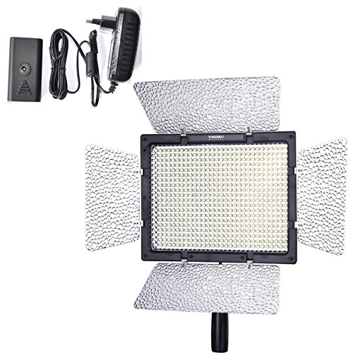 Yongnuo Yn-600 Led Video Light With 1 Ac Power Adapter For Panasonic G10Gk Gh2Gk Gh1Gk G2Gk G1Gk Gf2Gk Gf1Gk Camera Slr Dslr Illumination Lamp Camcorder Cam