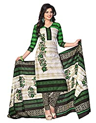 Dipak Women's Cotton Unstitched Dress Material (4003_Green)