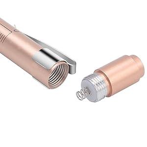 CAVN Pen Light with Pupil Gauge LED Penlight for Nurses Doctors, Reusable Medical Penlight for Nursing Students Rose Gold and Black