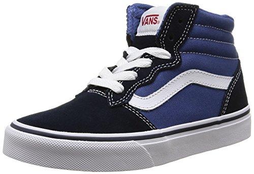 Vans Milton Hi, Sneakers Hautes per Bambini, Blu (Suede Canvas/Navy/Stv Navy), 28 EU (11 Child UK)