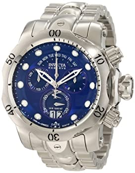 Invicta Men's 1538 Reserve Venom Chronograph Blue Dial Stainless Steel Watch by Invicta