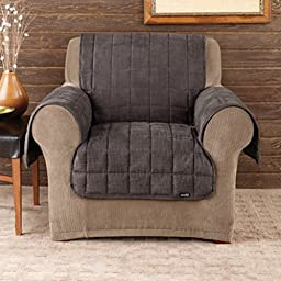 Sure Fit Deluxe Pet Cover  - Chair Slipcover  - Mini Check Blck/Brwn (SF39793)