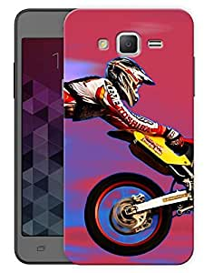 """Humor Gang Motocross And Motorcycles Love - Red Printed Designer Mobile Back Cover For """"Samsung Galaxy On7"""" (3D, Matte, Premium Quality Snap On Case)"""