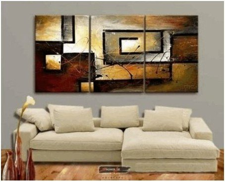 Abstract Modern Art 100% Hand Painted Oil Painting on Canvas Wall Art Deco Home Decoration (Unstretch No Frame)