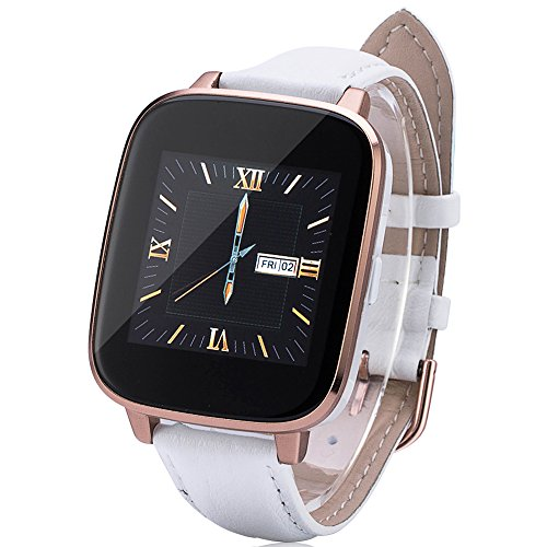 Lemfo LF10 Smart Watch Bluetooth 4.0 SmartWatch MTK2502 1.54 Inch IPS Heart Rate Monitor Fitness Tracker For IOS Android (White)