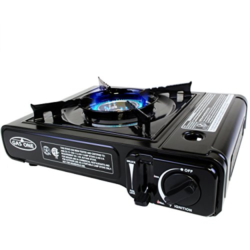 GAS ONE GS-3000 Portable Gas Stove with Carrying Case, 9,000 BTU, CSA Approved, Black (Propane Case compare prices)