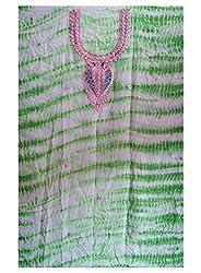 Green Color Gotta Patti Necklace Work Kurti Dress Material