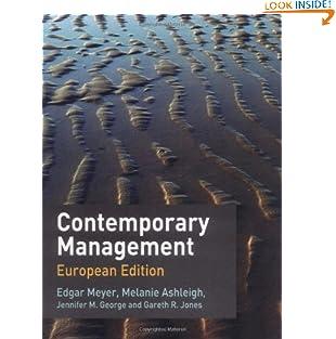 Contemporary Management: European Edition (Paperback)
