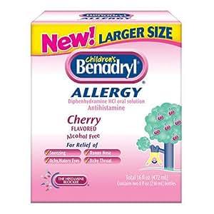 Amazon Com Benadryl Children S Cherry Flavored Liquid
