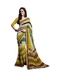 Triveni Lace Bordered Fancy Motif Printed Saree 62013b