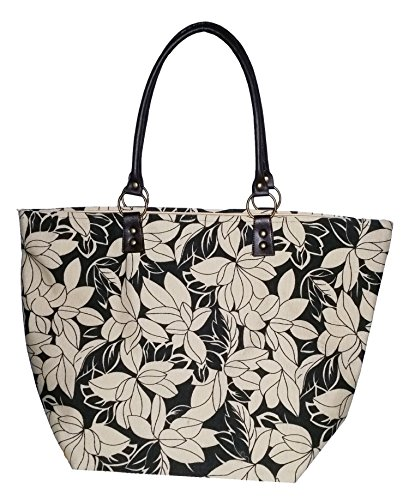 large-flower-print-zippered-top-bamboo-54-rachel-beach-bag-tote-black-and-beige