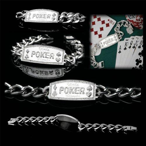 Silver Link World Poker Champion Bracelet