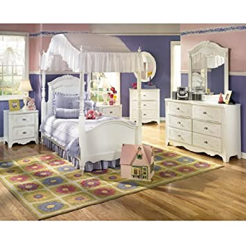 Vintage Exquisite Youth Canopy Bedroom Set by Ashley Furniture