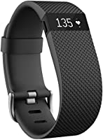 Fitbit Charge HR Heart Rate and Activity Wristband, Large (Black)