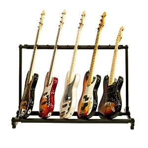 9 triple folding multiple guitar holder rack stand everything else. Black Bedroom Furniture Sets. Home Design Ideas