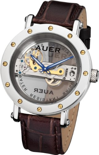 Urs Auer BA-506 Auer-BA506-GSBrL Wristwatch for Him Baguette Movement