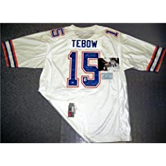 Tim Tebow Autographed Hand Signed Gators White Nike Jersey - PSA DNA
