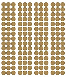 Metallic POLKA DOTS Circles vinyl lettering decal home decor wall 2 in dots pack of 180 Gold 2 inch 2x2