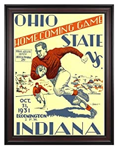 1931 Indiana Hoosiers vs Ohio State Buckeyes 36x48 Framed Canvas Historic Football... by Mounted Memories