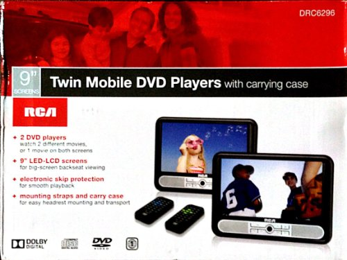 "Rca Twin 9"" Mobile Dvd Player - Black (Drc6296) - As Sold At Target"