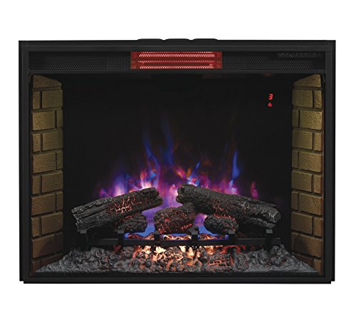 Classic Flame 33II310GRA Infrared SpectraFire Plus Insert with Safer Plug, 33-Inch