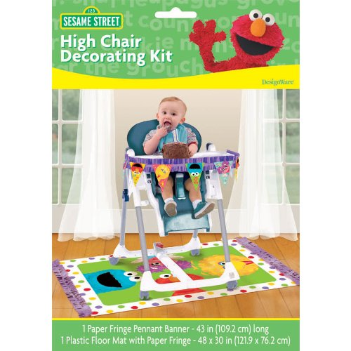 Sesame Street 1st Birthday High Chair Decorating Kit - Each