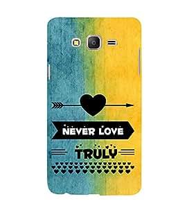 EPICCASE never love Mobile Back Case Cover For Samsung Galaxy E5 (Designer Case)