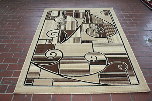 Canary Collection Area Rugs RT6148 (Beige, 8x11)