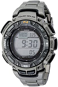 "Casio Men's PAG240T-7CR ""Pathfinder"" Triple-Sensor Multi-Function Titanium Watch"