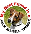 2 Jack Russell Terrier Car Stickers My Best Friend design No. 1