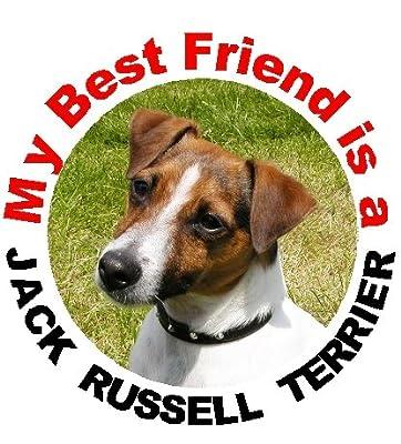 2 Jack Russell Terrier Car Stickers My Best Friend design No. 1
