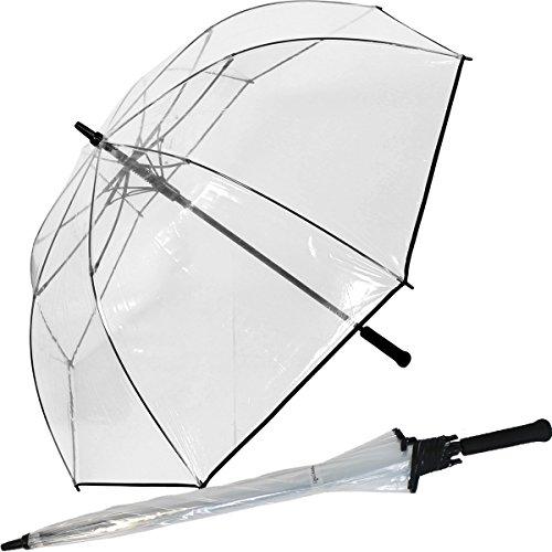 Golfschirm Automatik XXL 124cm Durchmesser - durchsichtig transparent extra gross -