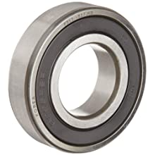 FAG Light 6200 Series Deep Groove Ball Bearing, Single Row, Sheet Steel Cage, Double Sealed, C3 Clearance, Metric