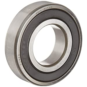 FAG 6203-2RSR-C3 Deep Groove Ball Bearing, Single Row, Double Sealed, Steel Cage, C3 Clearance, Metric, 17mm ID, 40mm OD, 12mm Width, 12000rpm Maximum Rotational Speed, 1070lbf Static Load Capacity, 2150lbf Dynamic Load Capacity