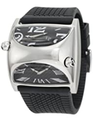 Lucien Piccard Men's PS200.01.0222 Stratosphere Black Dual Dial Black Rubber Watch