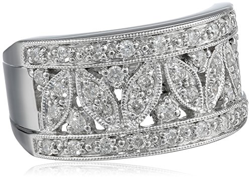 Kobelli 1/2 cttw Diamond Fashion 14k White Gold Band