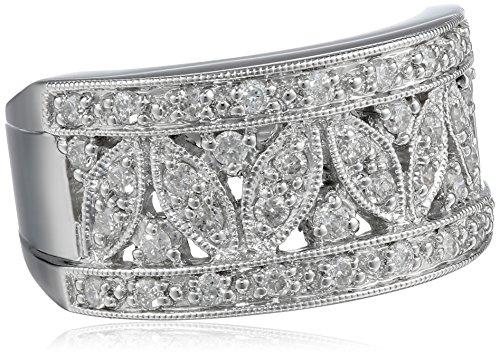Kobelli 1/2 cttw Diamond Fashion 14k White Gold Band