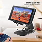 ANYQOO Multi-Angle Stand for Nintendo Switch, Cell Phone Tablet Video Game Holder Dock For iPhone 7 6 Plus 5 5c, Accessories, iPad and Tablets Foldable Adjustable Desk Playstand