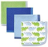Luvable Amigos bebé paños-Pack de 4 azul Blue Alligator