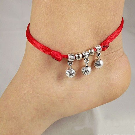 Tibetan Silver Sterling Silver Bangle Anklet Chain Bracelet Jewellery Quality Style NO.10034