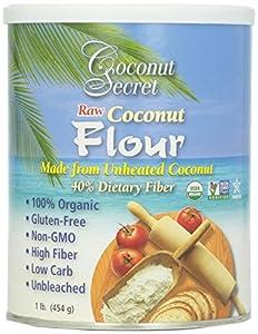 Coconut Secret Raw Coconut Flour (Gluten Free), 16 Ounce Canister