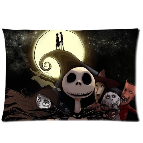 Amy Like Pillowcase/Copricuscini e federe Creative Funny Picture of Jack Sally The Nightmare Before Christmas Custom Zippered Pillow case/Copricuscini e federe 20*30 inches (Twin sides)