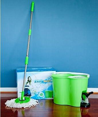 360 Degree Pro Spin Dry Mop + Bucket (3rd Generation) - Green