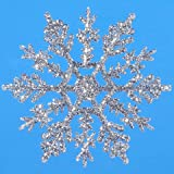 Bulk Buy: Darice DIY Crafts Snowflake Silver 4 inches 10 pieces (6-Pack) 1619-62